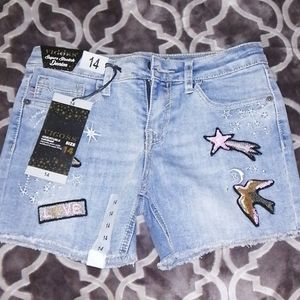 Vigoss Size 14 Girls Denim Shorts
